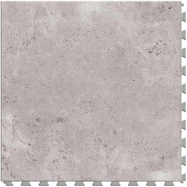 "Perfection Floor Tile Tivoli Stone Luxury Vinyl Tiles - 5mm Thick (20"" x 20"") with Silver Tivoli Stone Pattern Shown From the Top"