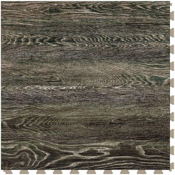 "Perfection Floor Tile Vintage Wood Luxury Vinyl Tiles - 5mm Thick (20"" x 20"") with Mossy Oak Pattern Shown From the Top"
