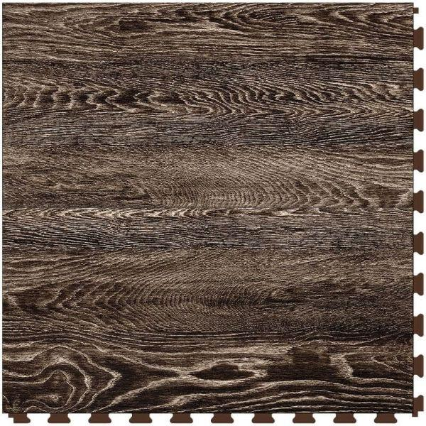 "Perfection Floor Tile Vintage Wood Luxury Vinyl Tiles - 5mm Thick (20"" x 20"") with Sorrel Oak Pattern Shown From the Top"