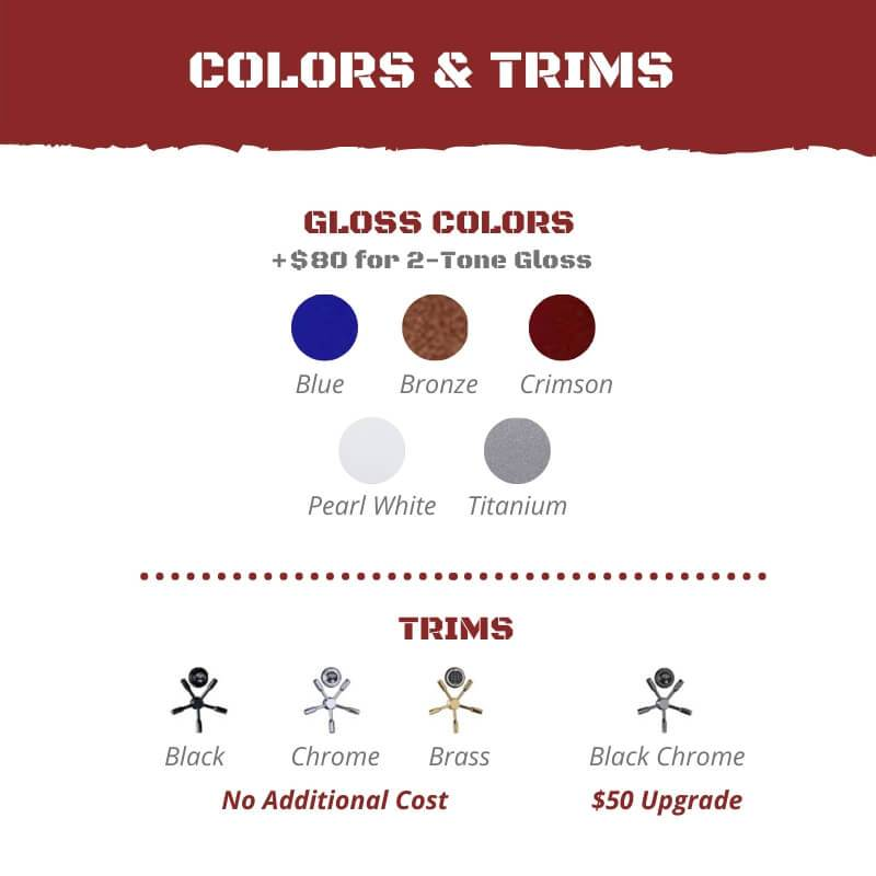 Rhino Safe Color & Trim Options