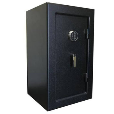 Sun Welding H36 Heirloom Home/Office Fire & Burglary Safe in Matte Gray with Doors Closed.