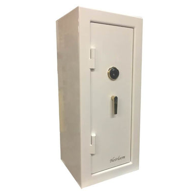 Sun Welding H48 Heirloom Home/Office Fire & Burglary Safe in Gloss Ivory with Doors Closed.