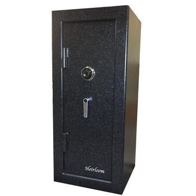 Sun Welding H48 Heirloom Home/Office Fire & Burglary Safe in Matte Gray with Doors Closed.