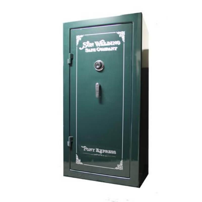 Sun Welding P36T Pony Express Series Fireproof Gun Safe in Gloss Green with Doors Closed