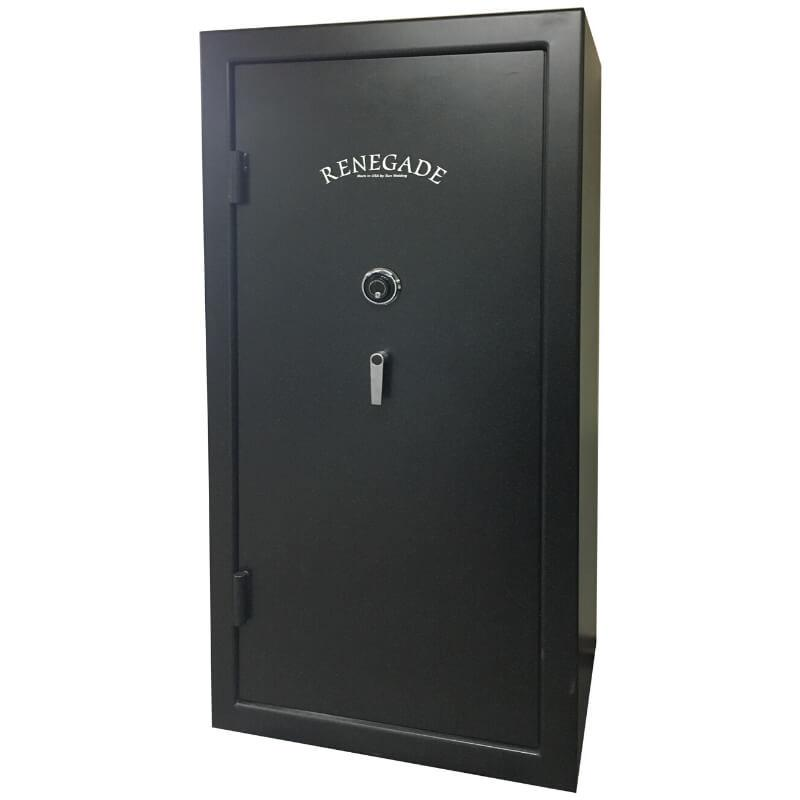 Sun Welding RS36 Renegade Series Fireproof Gun Safe in Matte Gray with Doors Closed.