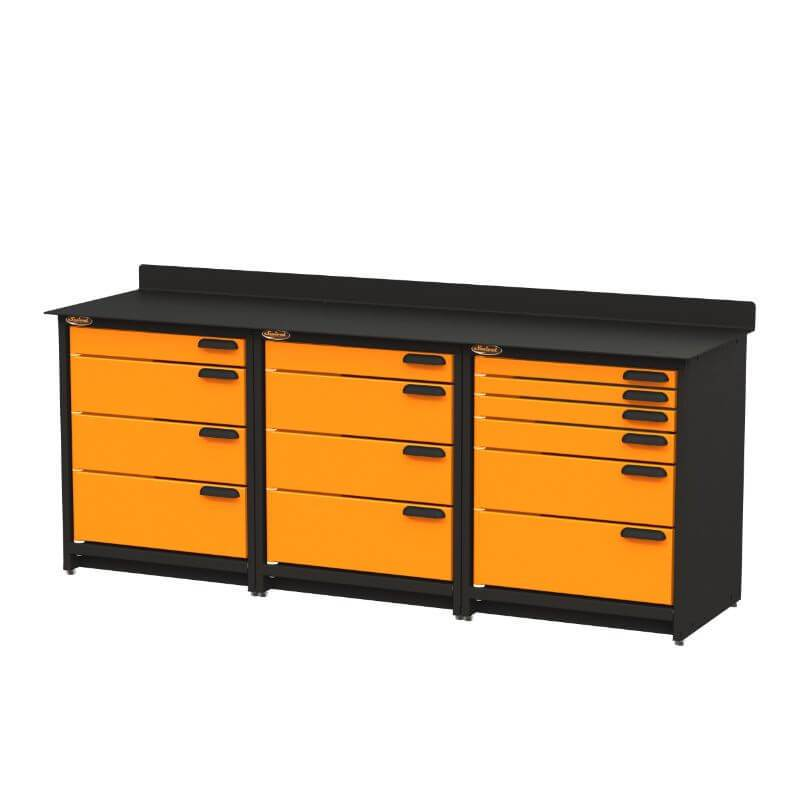 Swivel Storage Solutions PB3803614 3-Piece Combination Package from Front Right View with Drawers Closed