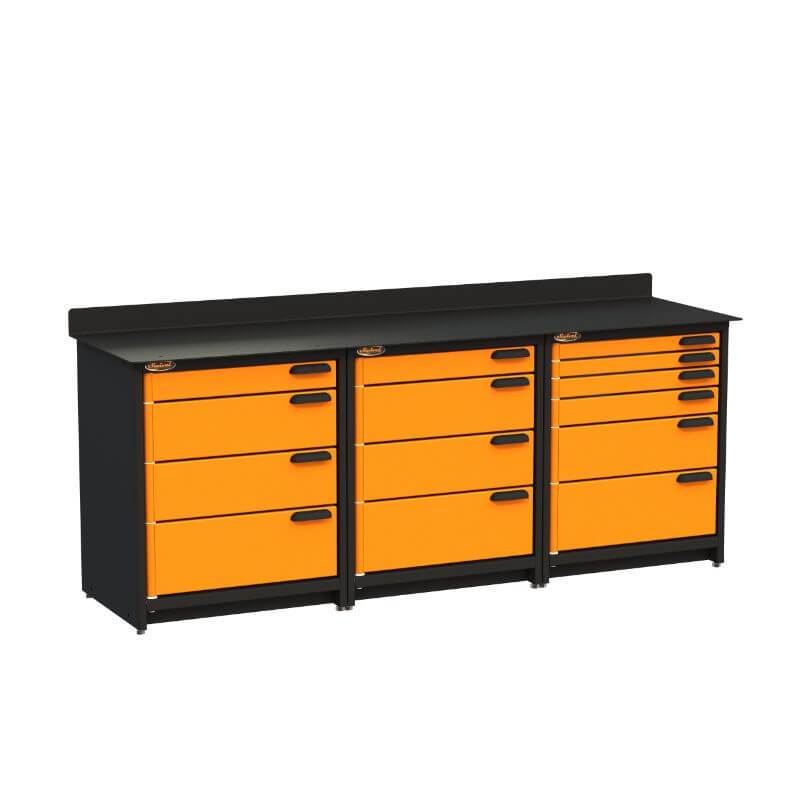 Swivel Storage Solutions PB3803614 3-Piece Combination Package from Front Left View with Drawers Closed