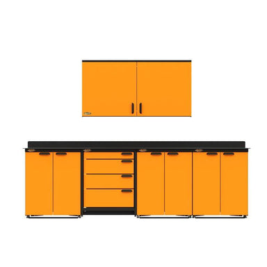 Swivel Storage Solutions PB3804D6 5-Piece Combination Package View From Directly in the Front with All Drawers and Cabinets Closed