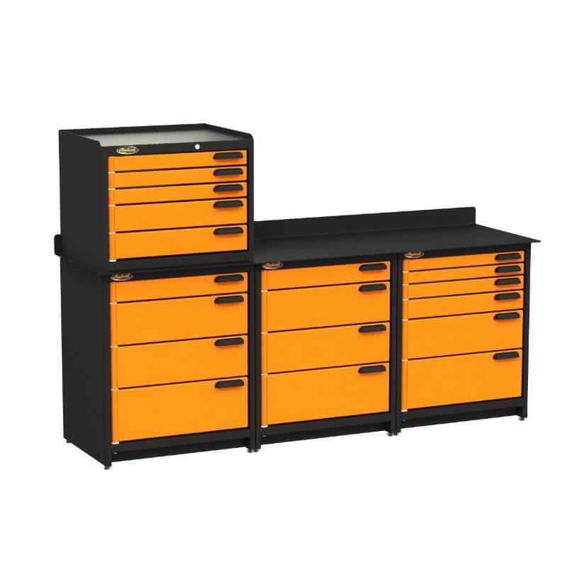 Swivel Storage Solutions PB383622 4-Piece Combination Package Front Left View with All Drawers Closed