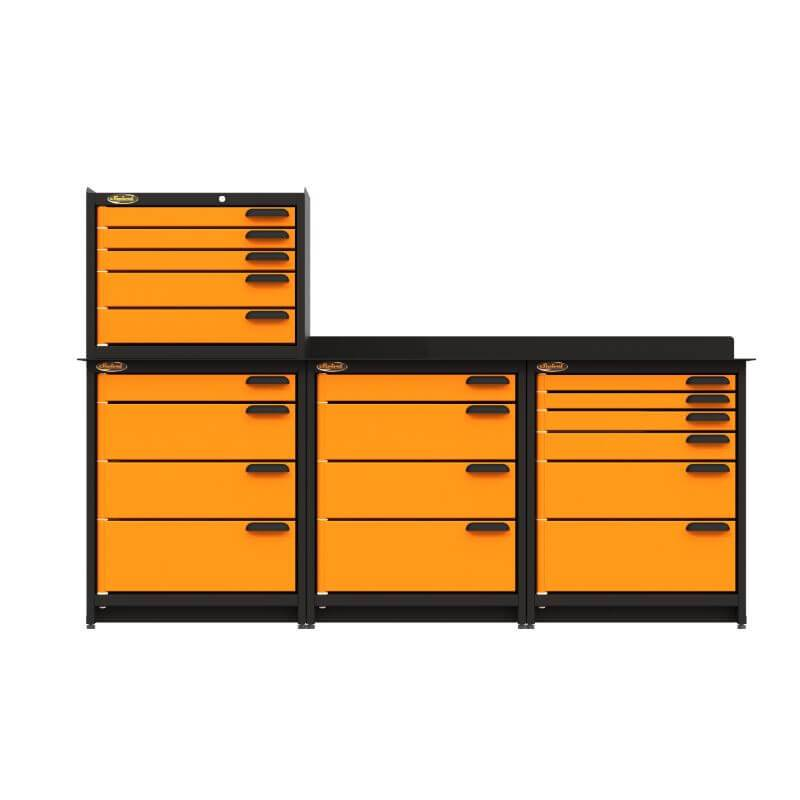 Swivel Storage Solutions PB383622 4-Piece Combination Package Directly from the Front All Drawers Closed