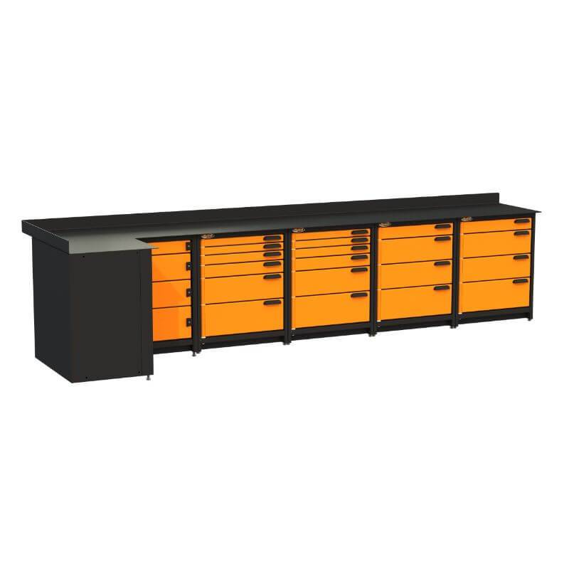 Swivel Storage Solutions PB4803620 5-Piece Combination Package (With Corner Drawers) from Front Left View with Drawers Closed