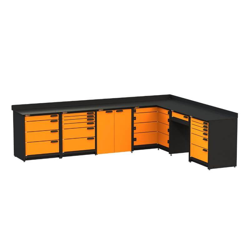 Swivel Storage Solutions PB624021 6-Piece Combination Package Front Left View with All Drawers Closed