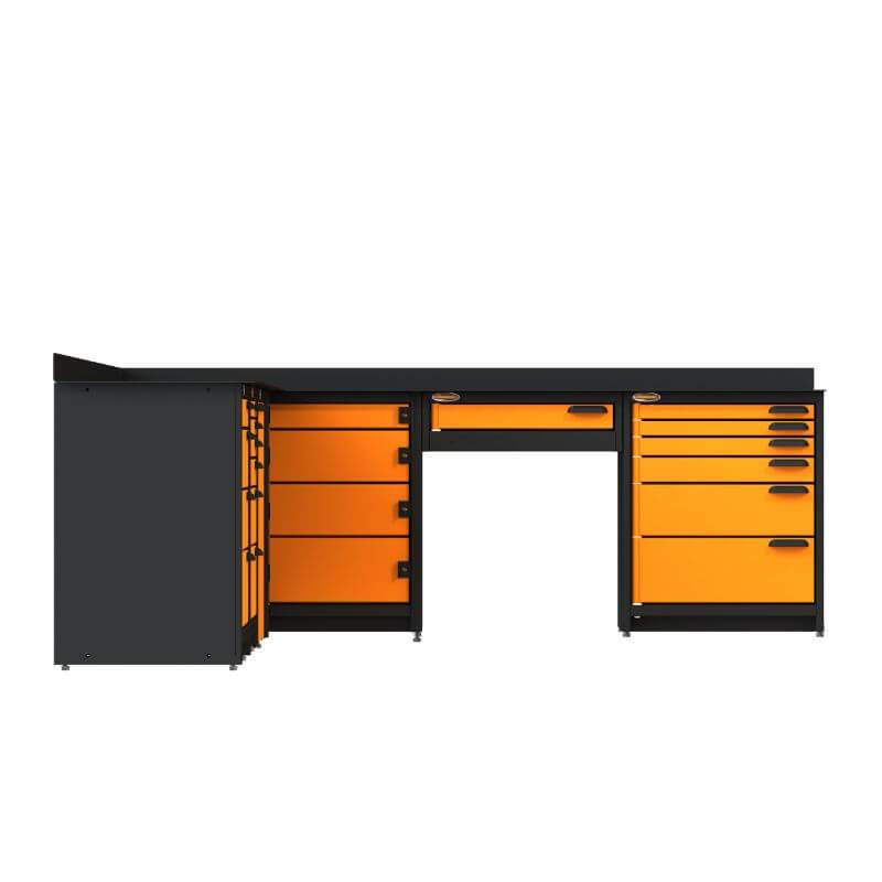 Swivel Storage Solutions PB624021 6-Piece Combination Package Directly From the Side with All Drawers Closed