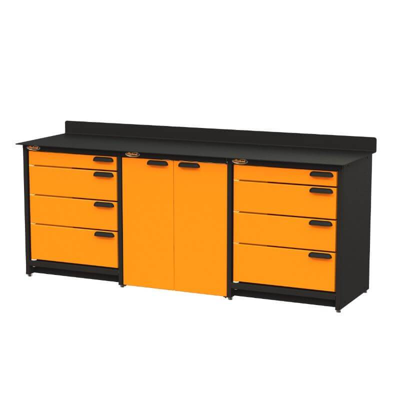 Swivel Storage Solutions PB809008 3-Piece Combination Package (With Large Cabinet) from Front Right View with Drawers Closed