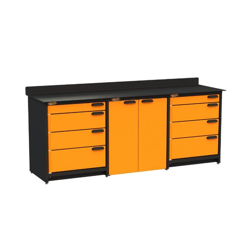Swivel Storage Solutions PB809008 3-Piece Combination Package (With Large Cabinet) from Front Left View with Drawers Closed