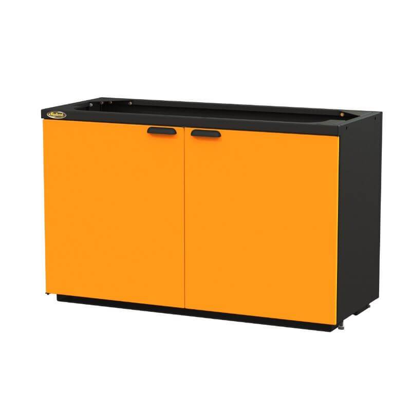 "Swivel Storage Solutions PRO 80 Modular Series 60"" Wide Cabinet with 2 Adjustable Shelves & Mounting Brackets (End Run Use Only) Front Right View with Cabinets Closed"