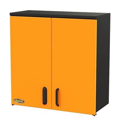 "Swivel Storage Solutions PRO 80 Modular Series 30"" Wide Wall Mounted Cabinet with 2 Adjustable Shelves Front Right View with Cabinets Closed"