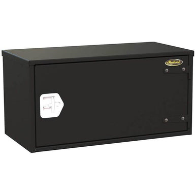 Swivel Storage Solutions PRO 18-Weathertight Underbody 3 Drawer Road Box (Truck Toolboxes) With Left Hinge Front Left View with Front Latch Closed