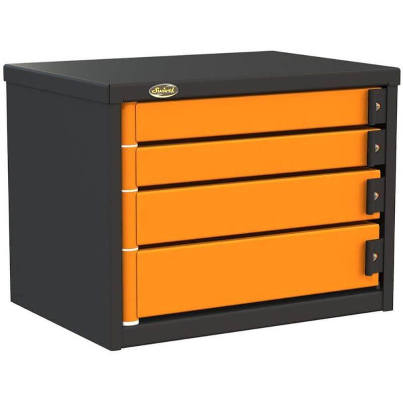 "Swivel Storage Solutions PRO 32 Series 24"" Service Body/Van Tool Box With 4 Drawers and Front Left View with Drawers Closed"