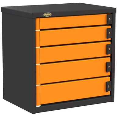 "Swivel Storage Solutions PRO 32 Series 24"" Service Body/Van Tool Box With 5 Drawers and Front Left View with Drawers Closed"