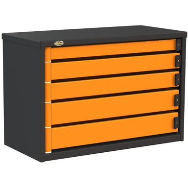 "Swivel Storage Solutions PRO 36 Series 36"" Service Body/Van Tool Box With 5 Drawers Front Left View with Drawers Closed"