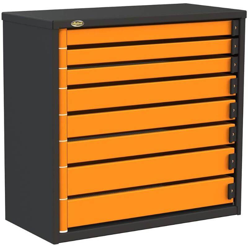 "Swivel Storage Solutions PRO 36 Series 36"" Service Body/Van Tool Box With 8 Drawers Front Left View with Drawers Closed"