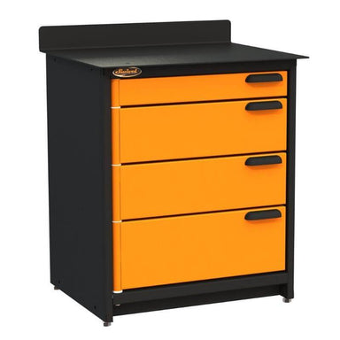 Swivel Storage Solutions PRO 80 Modular Series 4-Drawer Stationary Storage Unit From the Front Left View with Drawers Closed