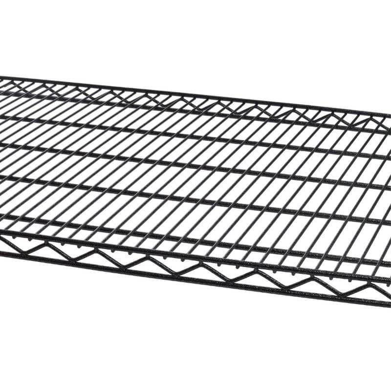Trinity TBFPBA-0926 (48x24x72) PRO 5-Tier Wire Shelving in Black Anthracite Close-Up of Shelves