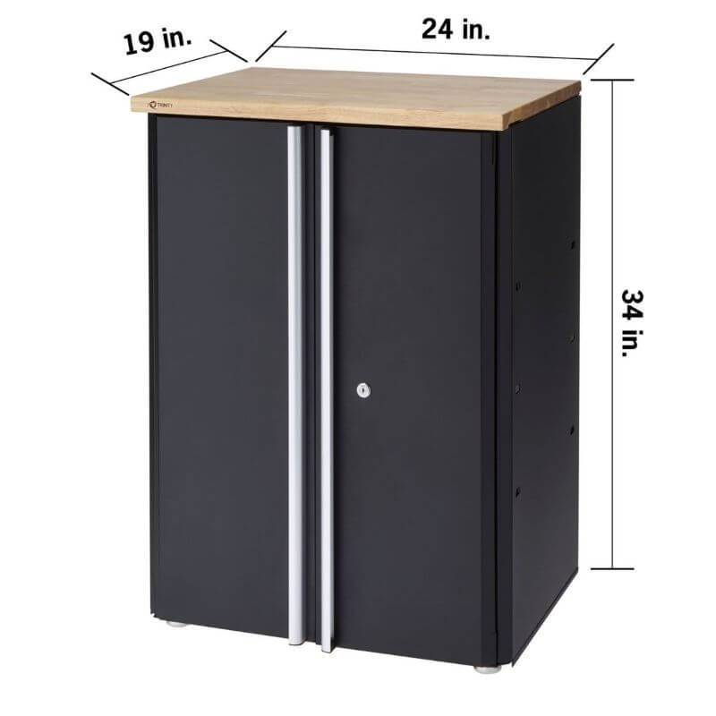 Trinity TLSPBK-0603 (24 in.) Garage Base Cabinet Overview of Width, Height and Depth