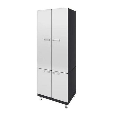 "Hercke HC-Kit 8-S73 (24""D x 30""W x 84""H) Storage Tower Garage Cabinet System in powder coat finish shown in side view."