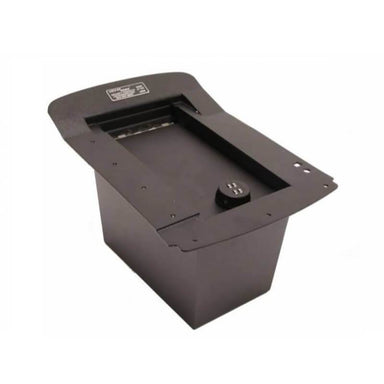 Locker Down LD2003 vehicle console safe for Chevrolet 2003-2007 and GMC 2003-2007 viewed from top.