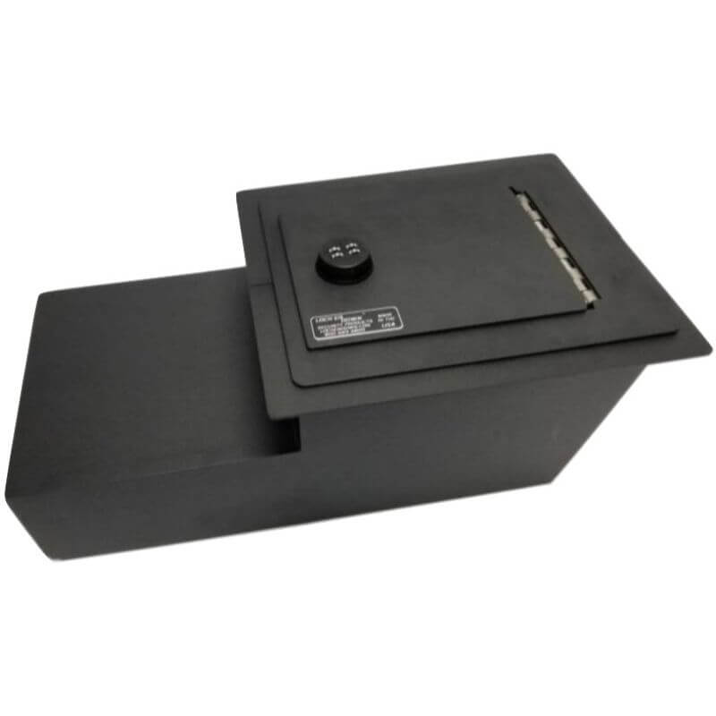 Locker Down LD2004EX vehicle console safe for Chevrolet 1973-1991 and GMC 1973-1991 viewed from top-horizontal.