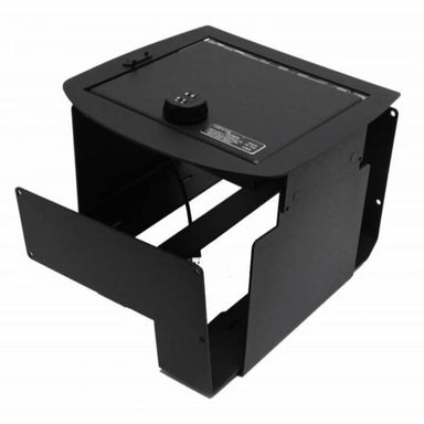 Locker Down LD2011X vehicle console safe for Chevrolet 2007-2014 and GMC 2007-2014 viewed from top to bottom.