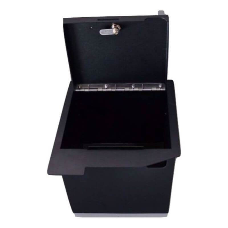 Locker Down LD2013 vehicle console safe for Toyota Sequoia and Tundra 2008-2013 viewed from top with open lid.