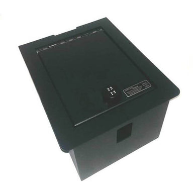 Locker Down LD2020 vehicle console safe for Ford F-250, F-350, F-450 2008-2010 viewed from top.