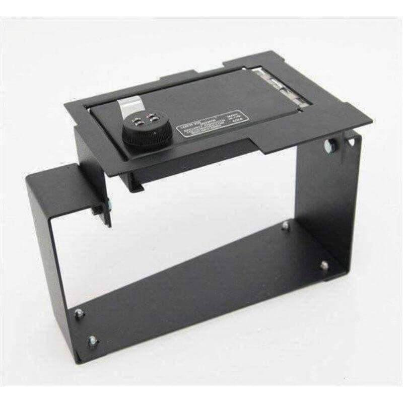 Locker Down LD2024 vehicle console safe for Ford	Expedition 2009-2014 viewed from top-side.