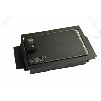 Locker Down LD2025 vehicle console safe for Ford	F-150 2009-2014 viewed from the top cover.