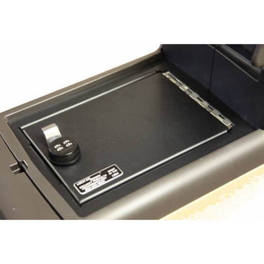 Locker Down LD2025 vehicle console safe for Ford	F-150 2009-2014 viewede inside the center console.
