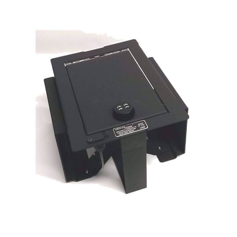 Locker Down LD2026EX vehicle console safe for Ford	F-150 2009-2012 viewed from the top.