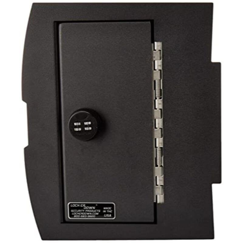 Locker Down LD2028 vehicle console safe for Dodge Ram 2009-2018 viewed from the top cover.