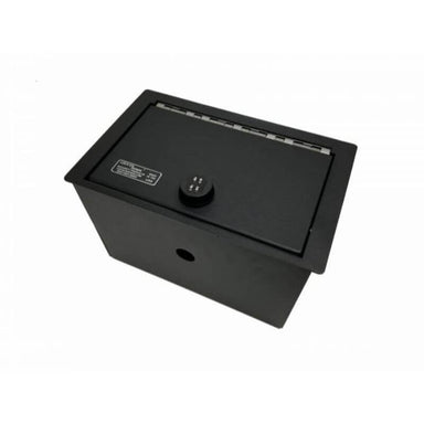Locker Down LD2044 vehicle console safe for Cadillac Escalade 2015-2020 viewed from the top cover.