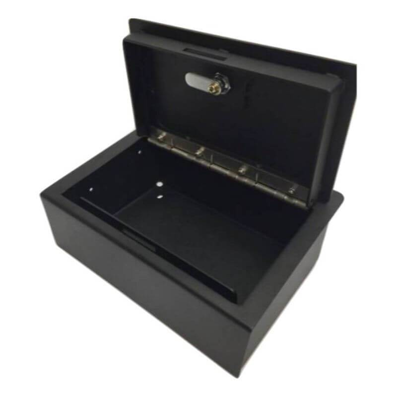 Locker Down LD2059EX vehicle console safe for Dodge Ram F-1500, F-2500, F3500, Trade  20012-2019 viewed from the top open lid.