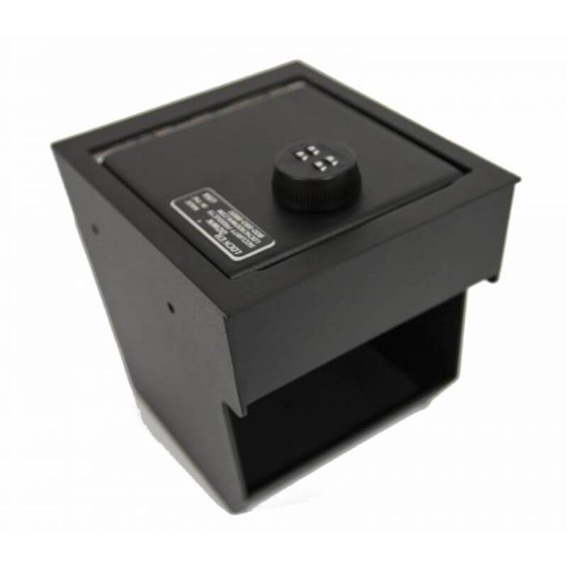 Locker Down LD2066 vehicle console safe for Jeep Wrangler 2DR and 4DR 2007-2010 viewed from the whole size.
