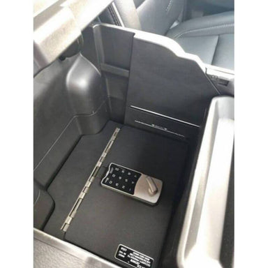 Locker Down LD2078L vehicle console safe for Dodge Ram 1500, 2500, 3500, 4500 2019-2020 viewed from the top inside center console.