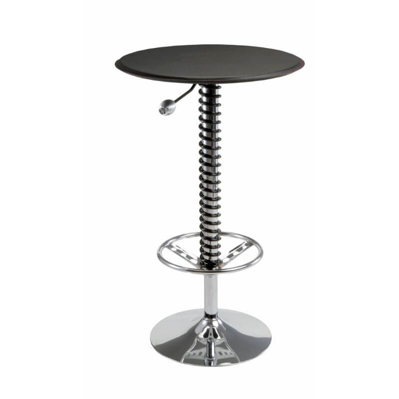 Pitstop Furniture Pit Crew Bar Table - Black Faux (HR1500B)