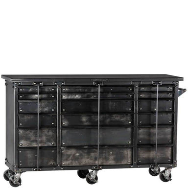 "Ironworks IWTC4372D Tool Chest | 43""H x 72""W x 23""D shown in front view with white background."