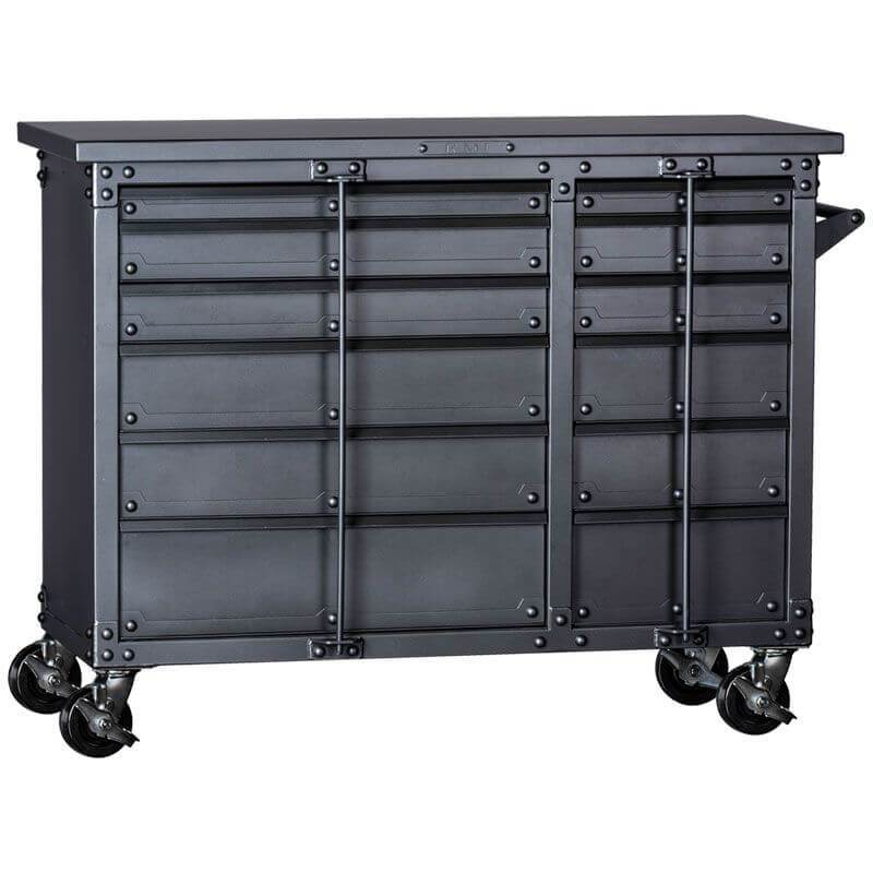 "Rhino RMI KTC4355DG Tool Chest | 43""H x 55""W x 23""D shown in front view with white background"