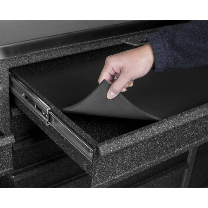 Rhino RMI RTC4355D Tool Chest shown inside drawers with the non-slip mats