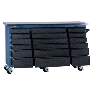 Rhino RMI RTC4372D Tool Chest shown in front view with drawers opened with white background