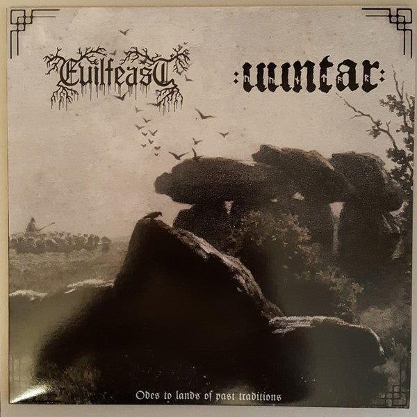 "Evilfeast / Uuntar ""Odes To Lands Of Past Traditions"" split LP"